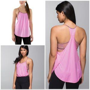 Lululemon No Limits Tank Pink Tuck Me In